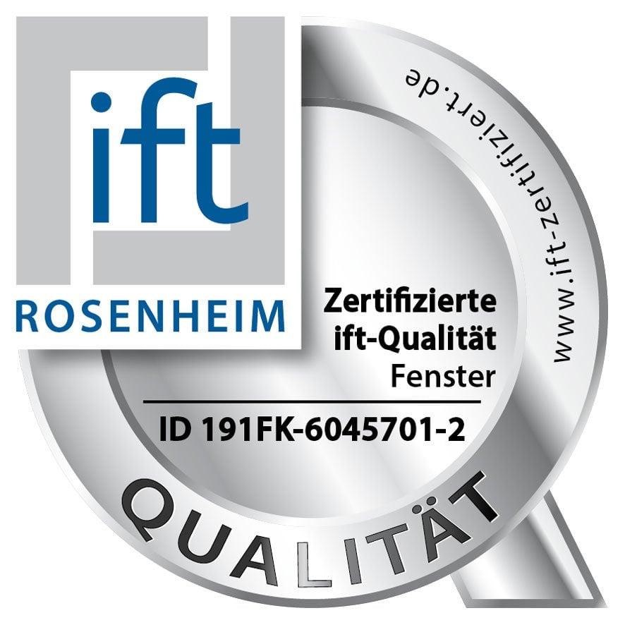 Zertifizierte ift-Qualität - Fenster